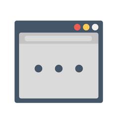 Web page icon vector