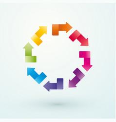 wheel of colored arrows vector image