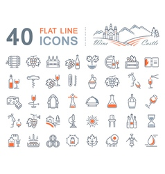 Wine Line Icons 1 vector
