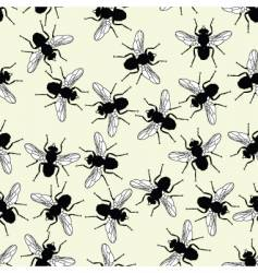 flies seamless tile vector image vector image