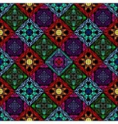 Fluorescent mushroom seamless tapestry vector image vector image