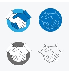 Handshake Thin Line Icon Set vector image