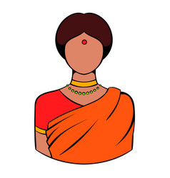 indian woman in traditional indian sari icon vector image