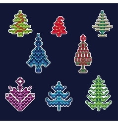 Knitted Christmas Patch 1 vector image
