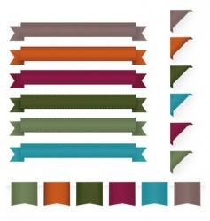 Ribbon design elements vector