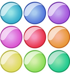 Round badges in nine colors vector image vector image