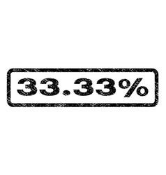 3333 percent watermark stamp vector image