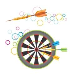 Darts with dartboard vector image