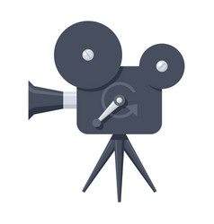 movie camera icon vector image