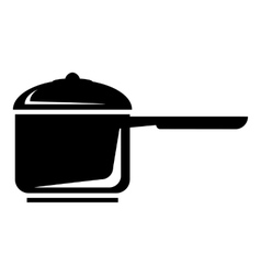 Pan with handle icon simple style vector image vector image