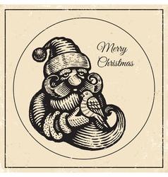 Santa vintage black 2015 vector image vector image