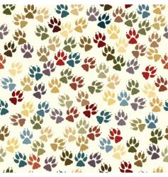 paw seamless tile vector image