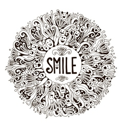 SMILE greeting card vector image vector image