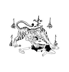 thai yantra thai traditional tattoo vector image vector image