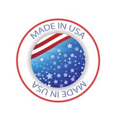 1860USA label vector image