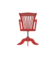 chair red furniture background design armchair vector image vector image