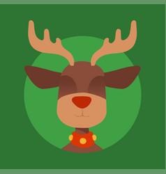 christmas reindeer character new year vector image