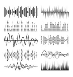 music sound waves pulse abstract audio vector image vector image