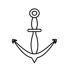 outline anchor marine nautical sign vector image vector image