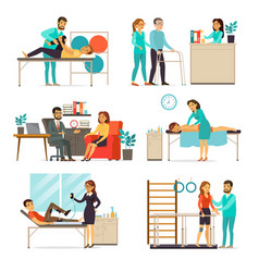 Rehabilitation and therapy set vector