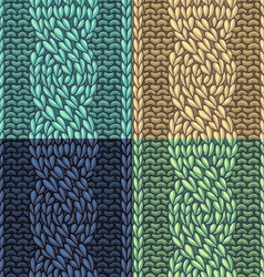 Set of Six-Stitch cable stitch patterns vector image vector image