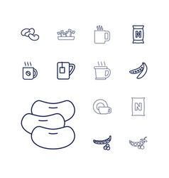 13 bean icons vector