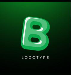 3d playful letter b kids and joy style symbol vector