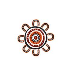 Aboriginal art logo design vector