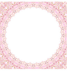 Abstract circular frame with white background vector