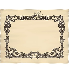 Antique frame vector image