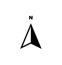 arrow compass north icon symbol vector image
