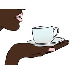 As a coffee bean vector image