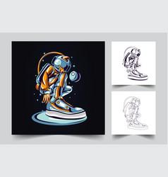 astronaut style artwork vector image