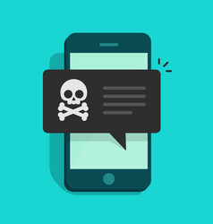 Back malware notification on mobile phone vector