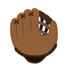Baseball glove icon yellow background vector
