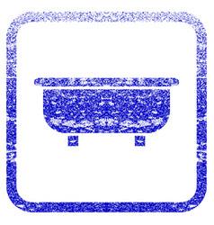 Bathtub framed textured icon vector