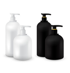 big set of jar with liquid soap for your logo and vector image
