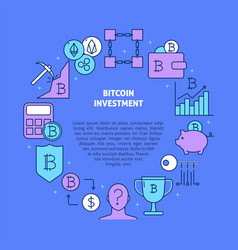 bitcoin investment round banner with place vector image