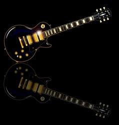 black beauty electric guitar vector image