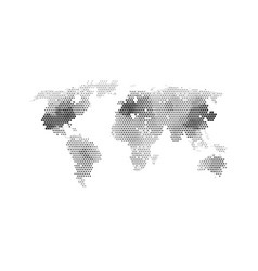 black color world map vector image