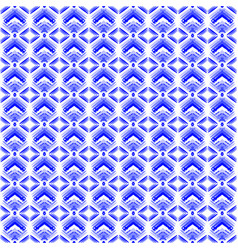 blue diamonds of white stars on the hearts of vector image