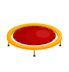 Bright childrens trampoline on a white vector