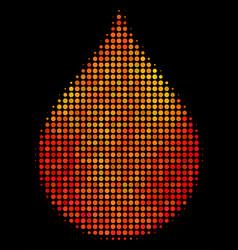 bright dot drop icon vector image
