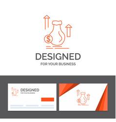 business logo template for money bag dollar vector image