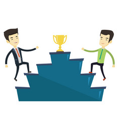 Businessmen competing for business award vector