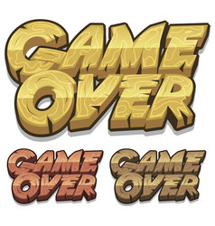 cartoon game over icon for ui game vector image