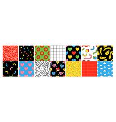 Cartoon seamless patterns vector