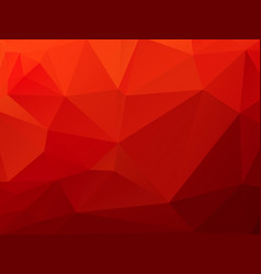 christmas polygonal red background vector image
