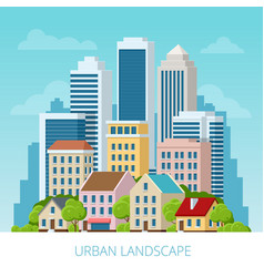concept city and suburban life city street vector image