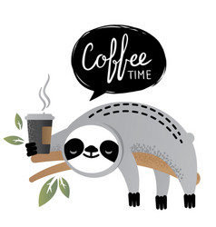 Cute sloth bear animal vector